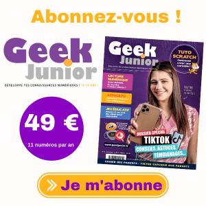 Abonnement 1 an - Geek Junior