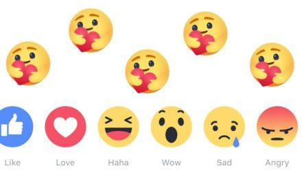 Facebook ajoute une nouvelle réaction : un câlin virtuel !