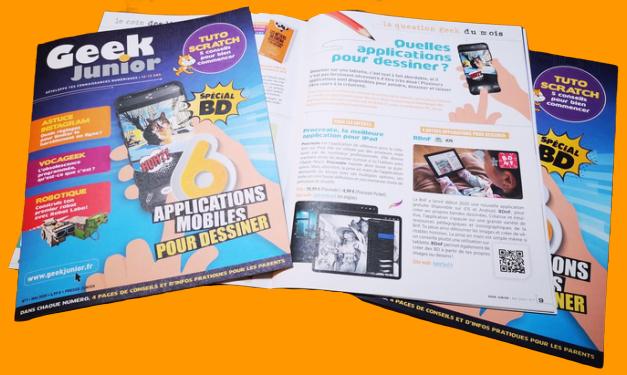 Le n°1 du magazine Geek Junior est sorti !