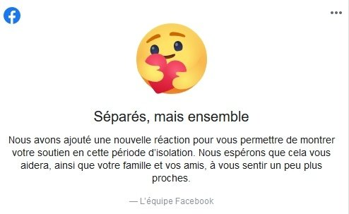 nouvelle réaction facebook