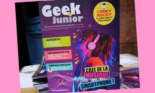 Le n°2 de Geek Junior, le mensuel d'éducation numérique, vient de sortir !