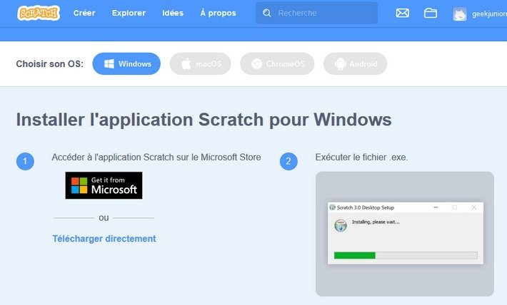 Scratch téléchargement Windows