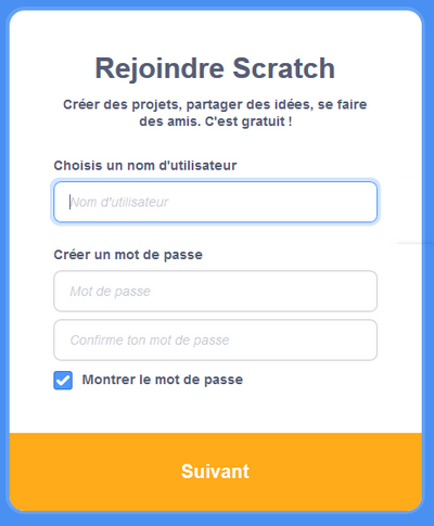 Scratch Rejoindre Login