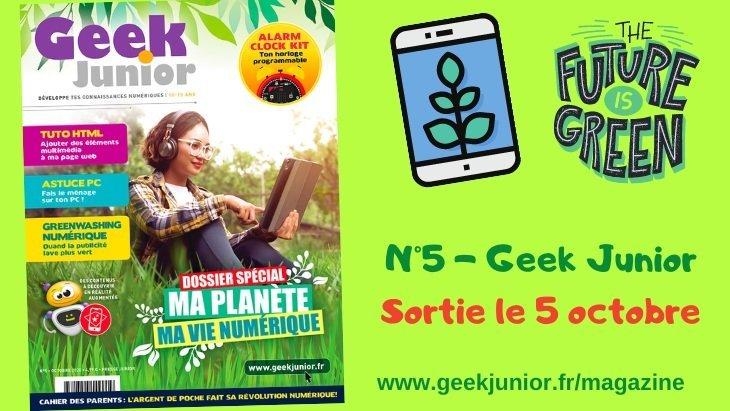 Le N°5 de Geek Junior est sorti !