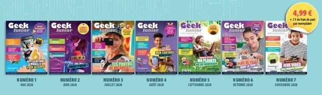 Anciens numéros de Geek Junior