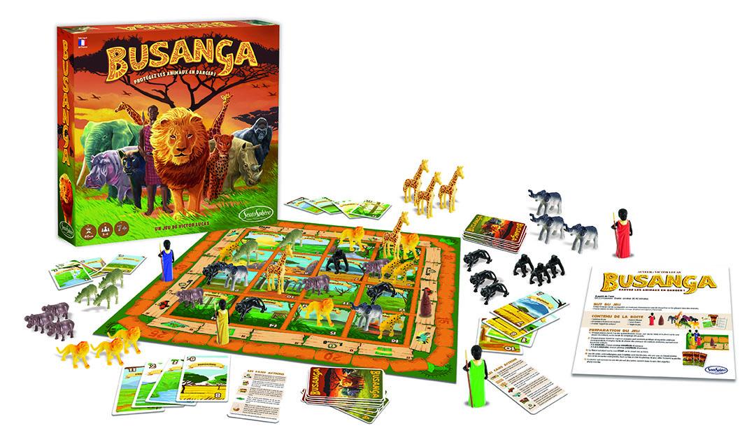 contenu boite de jeu Busanga