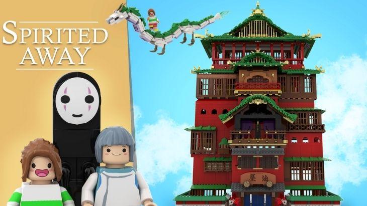 """Un set LEGO """"Le Voyage de Chihiro"""" imaginé par un fan"""