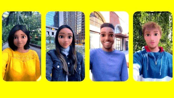 Transforme-toi en personnage de dessin animé dans Snapchat !