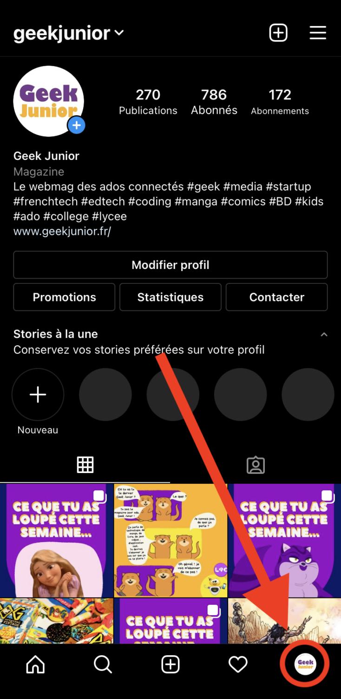 Ajouter un compte Instagram