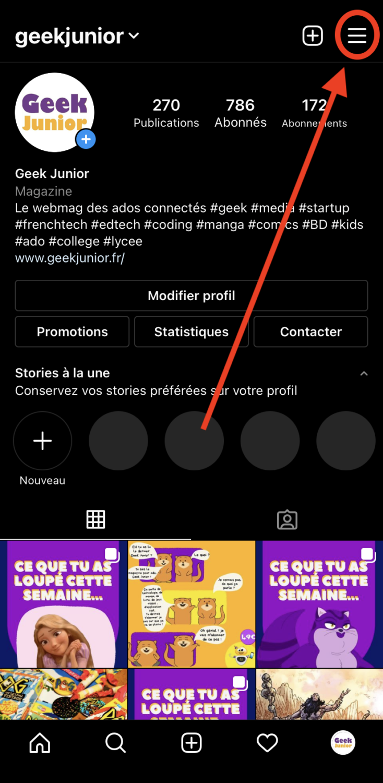 Masquer Story Instagram