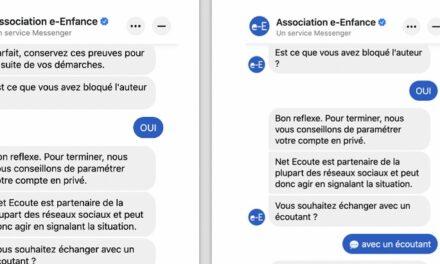 E-enfance lance un chatbot Messenger pour t'aider à mieux te protéger en ligne