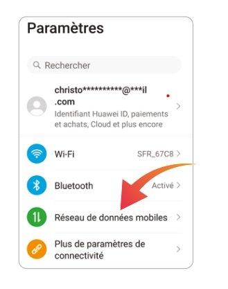 Réseau de données mobiles - Android