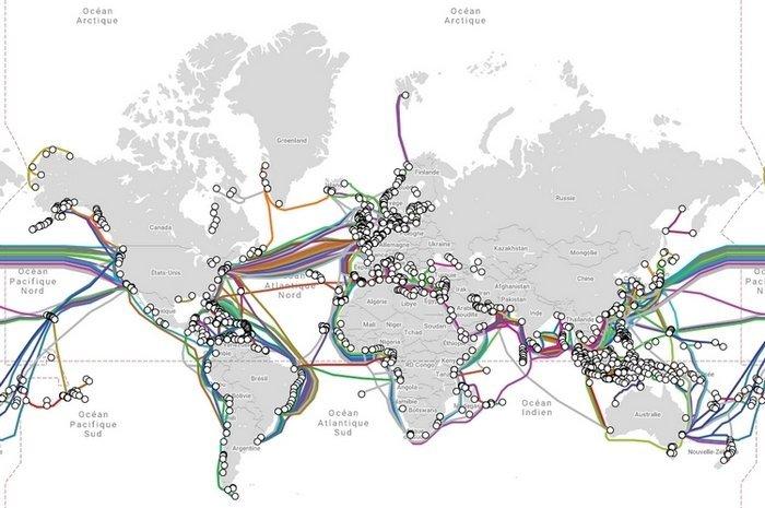 reseau cables sous marin