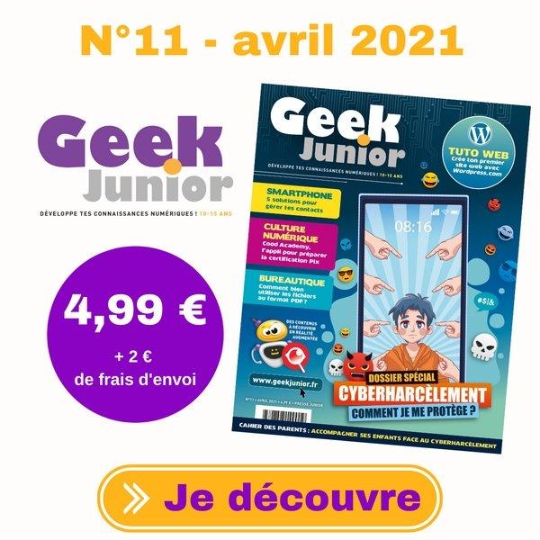 N°11 Geek Junior - avril 2021