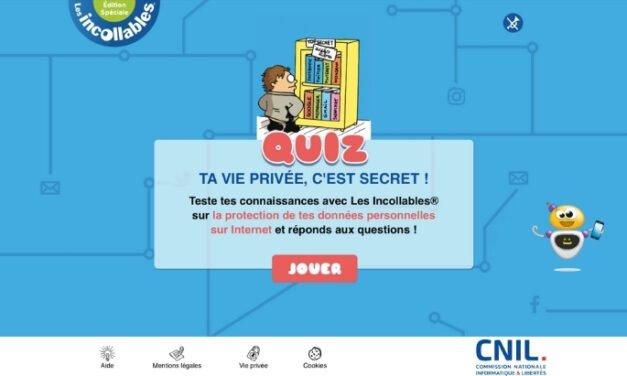 Teste tes connaissances sur les données personnelles avec la CNIL et Les Incollables