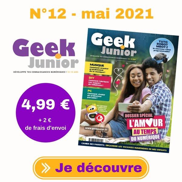 N°12 Geek Junior - mai 2021