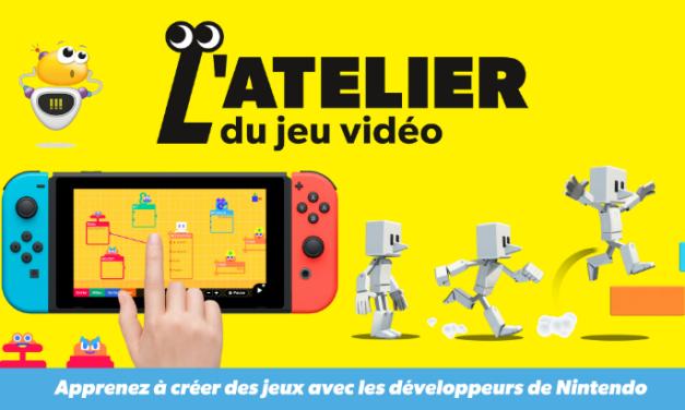 L'atelier du jeu vidéo : créer ton propre jeu vidéo sur la Nintendo Switch !