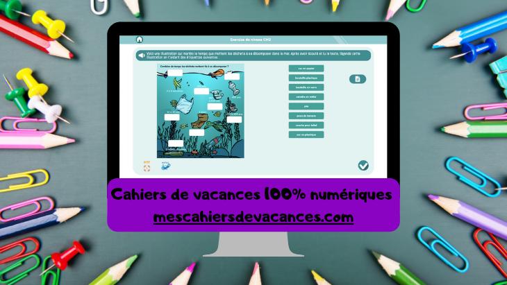 Des cahiers de vacances 100% numériques avec les éditions Jocatop