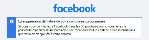 Suppression Facebook fin