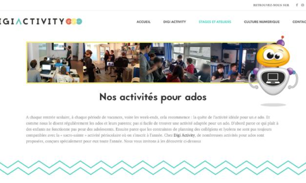 Des stages de création numérique pour les ados avec Digi Activity
