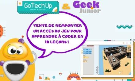 Concours d'été : gagne un accès à 10 leçons pour apprendre à coder avec GoTechUp