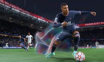 FIFA 22 avec Kylian Mbappé sur la jaquette et un trailer