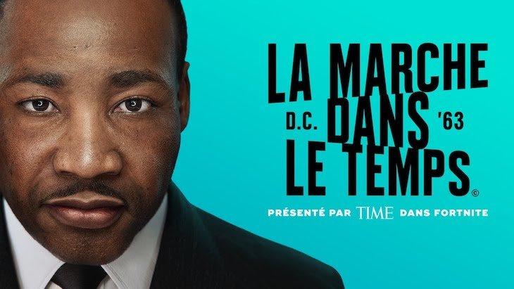 Fortnite commémore le discours de Martin Luther King dans un évènement virtuel
