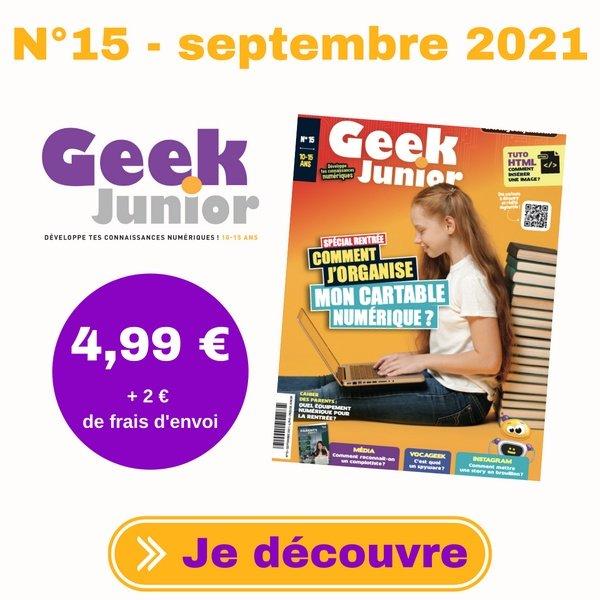 N°15 Geek Junior magazine