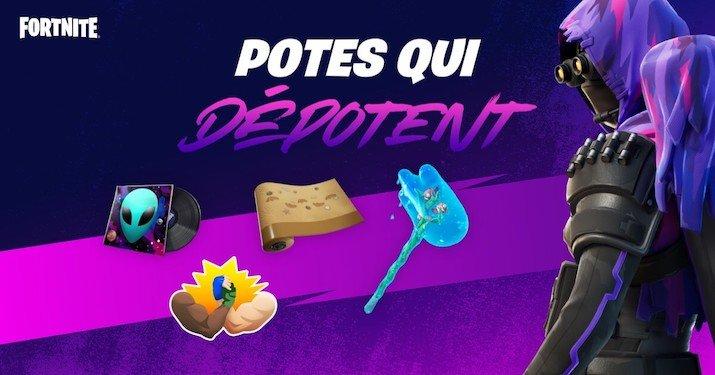 «Des potes qui dépotent» un évènement Fortnite uniquement sur quelques jours !