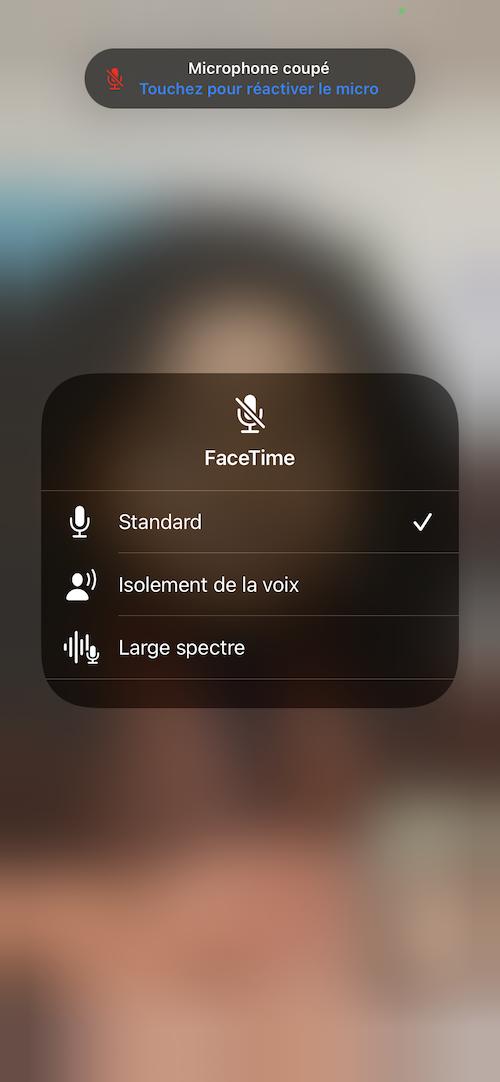 FaceTime iOs 15.0