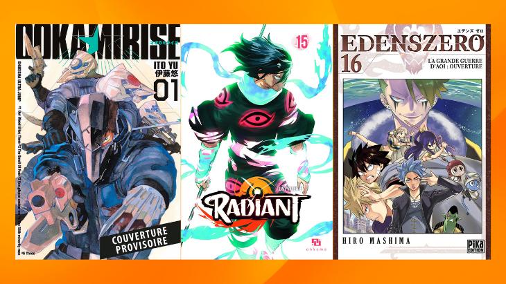 Les sorties mangas/animés : Radiant, Edens Zero, Ookami Rise… #26