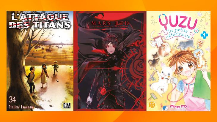 Les sorties mangas/animés : L'Attaque des titans, Yuzu, Red Mars… #28